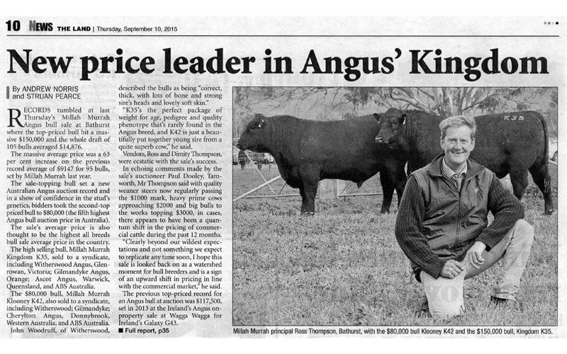 2015 Bull Sale Report