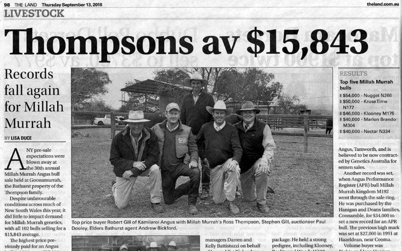 2018 Bull Sale Report