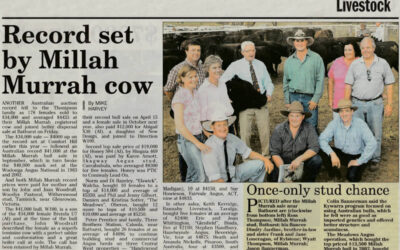 2003 Cow Sale Report